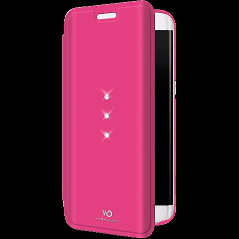 White Diamonds Crystal Booklet Samsung Galaxy S7 edge pink vorne 99925340