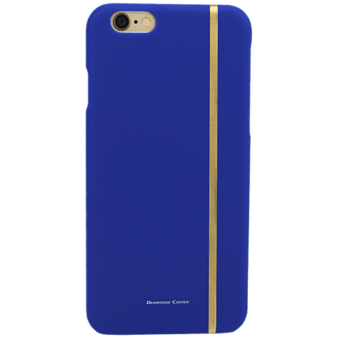 Diamond Cover 24 Karat Gold Stripe Blau Apple iPhone 6/6s 99925598 hinten