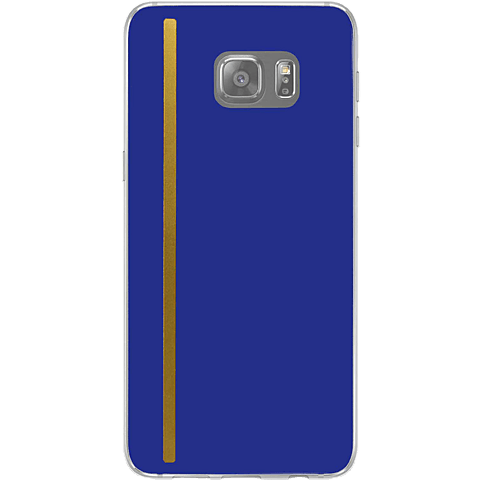 Diamond Cover 24 Karat Gold Stripe Blau Samsung Galaxy S7 99925590 hinten