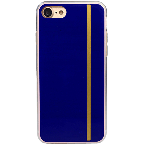 Diamond Cover 24 Karat Gold Stripe Blau Apple iPhone 7 99925605 hinten