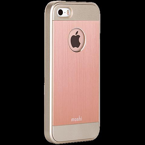 Moshi Cover iGlaze Armour iPhone SE rosegold seitlich 99925484