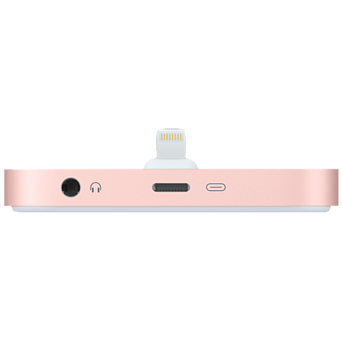 Apple Lightning Dock iPhone Rosegold 99925276 hinten
