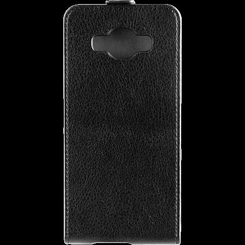 Xqisit Flipcover Samsung Galaxy J5 (2016) schwarz hinten 99925226