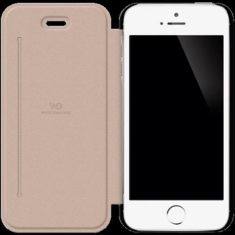 White Diamonds Crystal Booklet Apple iPhone SE schwarz seitlich 99925333