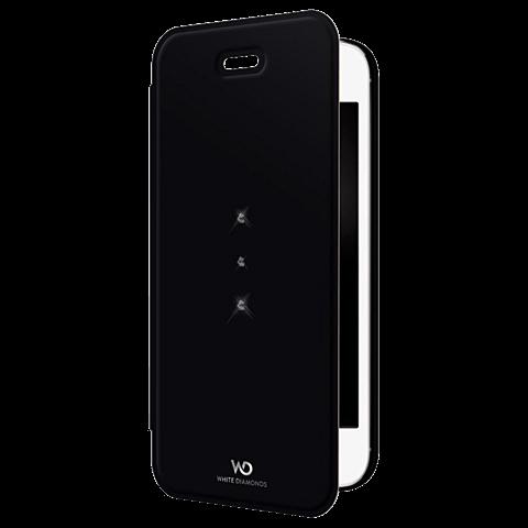 White Diamonds Crystal Booklet Apple iPhone SE schwarz vorne 99925333