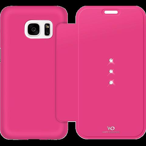 White Diamonds Crystal Booklet Samsung Galaxy S7 pink hinten 99925337