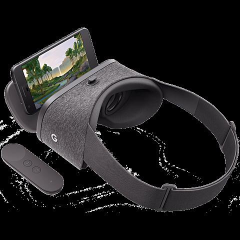 Google Daydream View VR-Headset Schiefergrau 99925773 seitlich