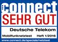 Connect: Mobilfunknetztest Sehr gut Heft 1/2016