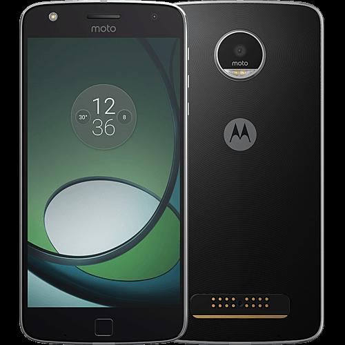 Lenovo Moto Z Play schwarz vorne und hinten