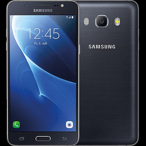 Samsung Galaxy J5 (2016) Schwarz vorne und hinten