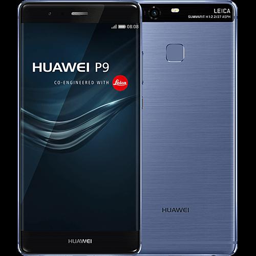 Huawei P9 blau vorne und hinten