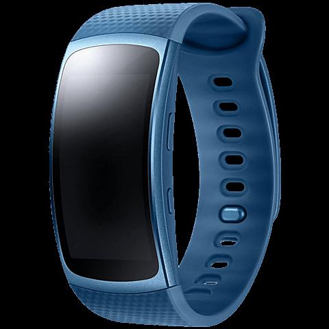 Samsung Gear Fit2 Armbandgröße S Blau 99925882 vorne