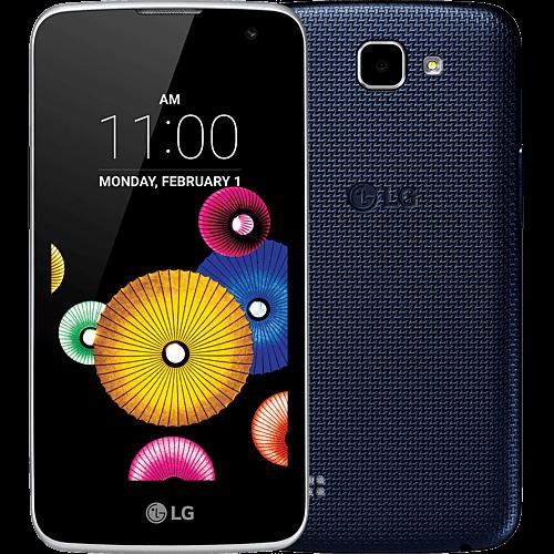 LG K4 LTE blau vorne und hinten