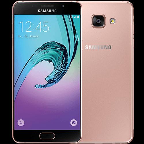 Samsung Galaxy A5 (2016) pink-gold vorne und hinten