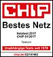 CHIP Netztest 2017: Bestes Netz