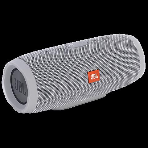 JBL Charge 3 Bluetooth Lautsprecher grau seitlich 99925492