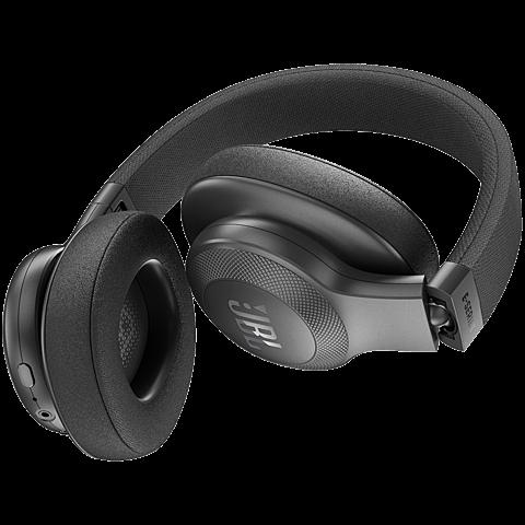 JBL E55-BT Over Ear Bluetooth Kopfhörer schwarz hinten 99925734