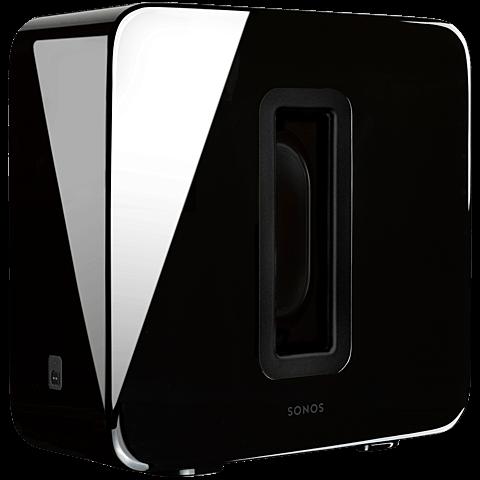 Sonos Sub Wireless Subwoofer Hochglanz schwarz seitlich 99925937