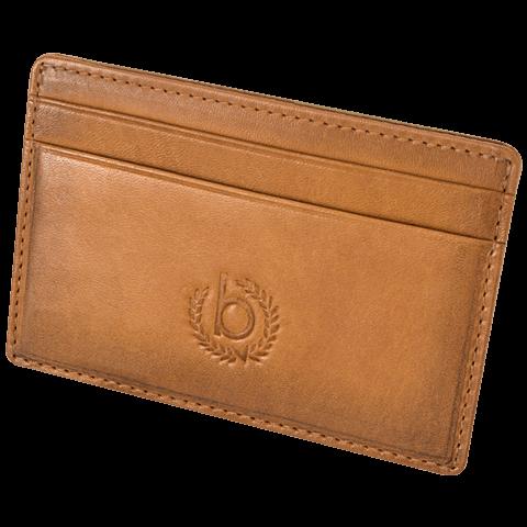 Bugatti Kreditkarten Etui cognac seitlich 99925996