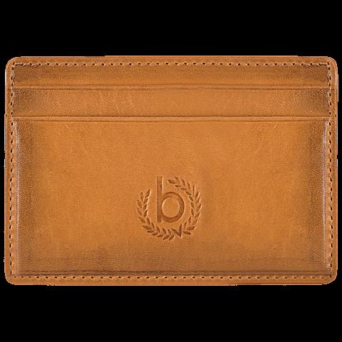 Bugatti Kreditkarten Etui cognac vorne 99925996