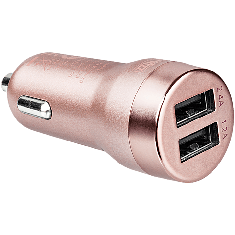 Artwizz Carplug Double USB rosegold seitlich 99925633