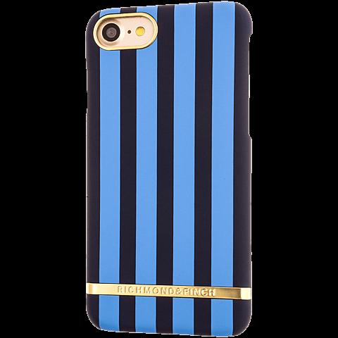 Richmond & Finch Stripes Cover iPhone 7 riverside blau hinten 99925636