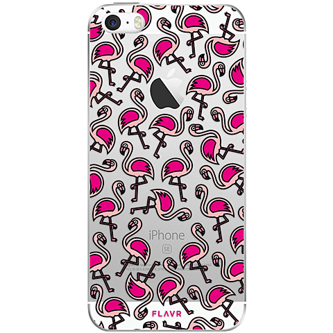 FLAVR Cover Apple iPhone SE Flamingo Hinten 99925682