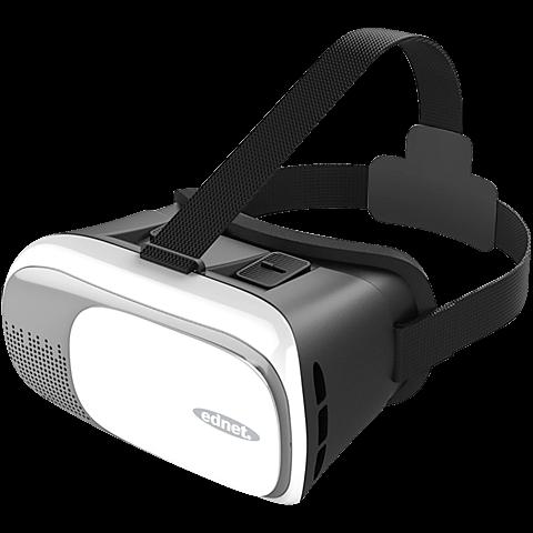 ednet Virtual Reality 3D-Brille für Smartphones Weiß 99925986 vorne