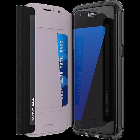 Tech21 Evo Wallet Case Schwarz Samsung Galaxy S7 edge 99925437 seitlich