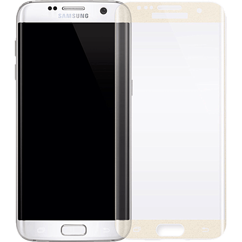 White Diamonds Sparkling Glass Samsung Galaxy S7 edge gold vorne 99925357