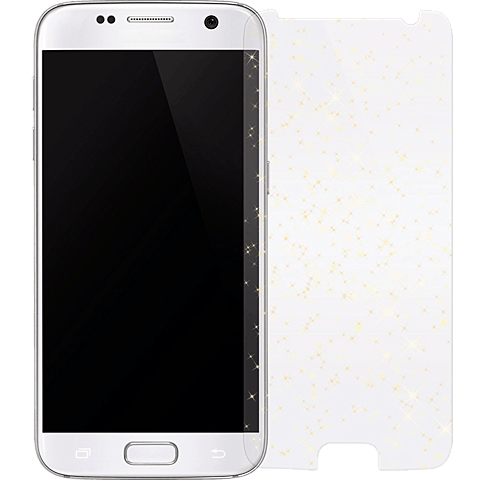 White Diamonds Sparkling Glass Samsung Galaxy S7 gold vorne 99925356