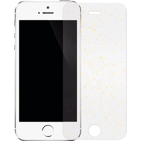 White Diamonds Sparkling Glass Apple iPhone SE gold vorne 99925355