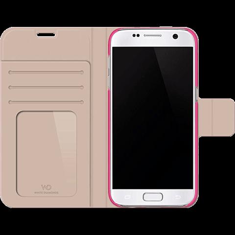 White Diamonds Crystal Booklet Samsung Galaxy S7 pink seitlich 99925337