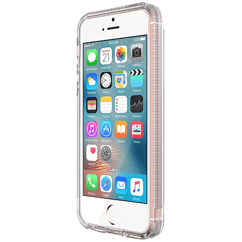 Tech21 Impact Clear Hülle Apple iPhone 5/5s/SE transparent seitlich 99925460