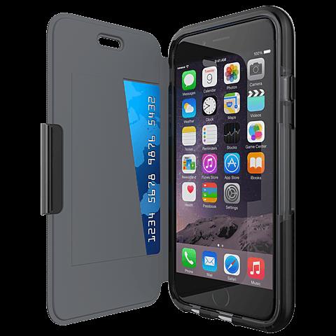 Tech21 Evo Wallet Hülle Apple iPhone 7 schwarz seitlich 99925440