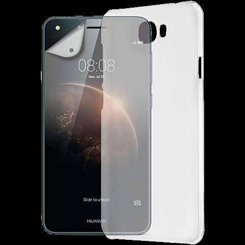 xqisit iPlate Cover + Displex Displayschutzfolie Huawei Y6 II Compact 99926055 vorne