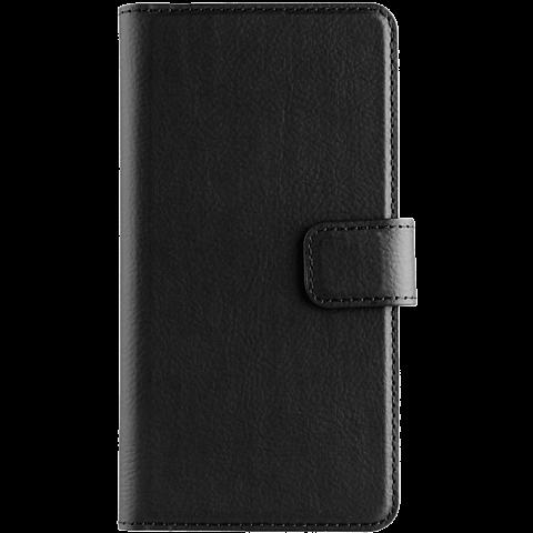xqisit Slim Wallet Huawei Y6 II Compact Schwarz 99926054 vorne