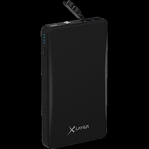 XLayer Powerbank Off-Road Mini 5400 mAh Schwarz 99926063 seitlich