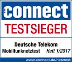 Connect Testsieger Deutsche Telekom Mobilfunknetztest Heft 1/2017