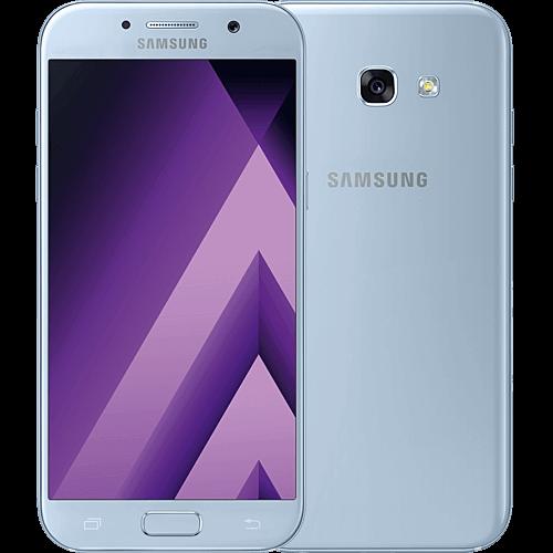 Samsung Galaxy A5 2017 blau vorne und hinten