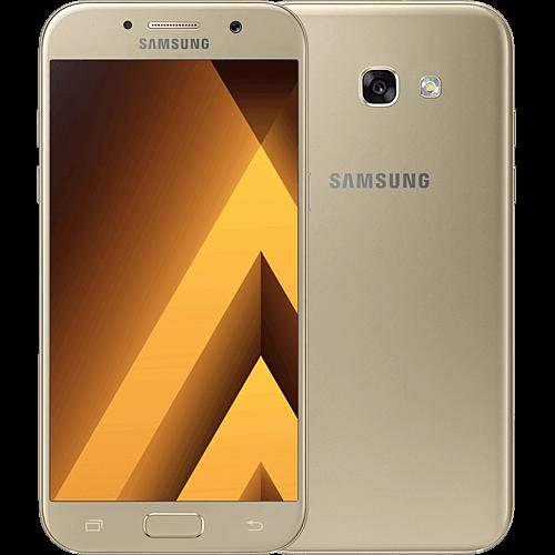 Samsung Galaxy A5 2017 gold vorne und hinten