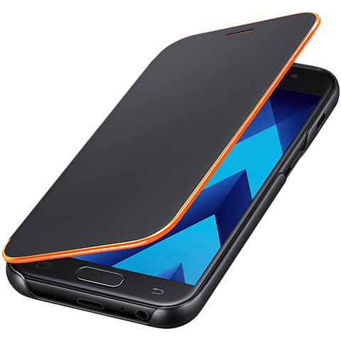 Samsung Neon Flip Cover Schwarz Galaxy A3 (2017) 99926107 seitlich