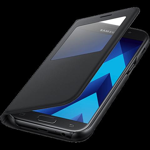 Samsung S-View Standing Cover Schwarz Galaxy A5 (2017) 99926111 seitlich