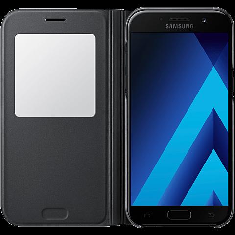Samsung S-View Standing Cover Schwarz Galaxy A5 (2017) 99926111 vorne