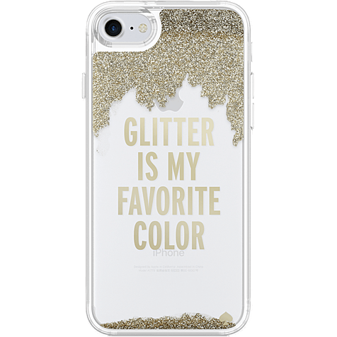 Kate Spade New York Liquid Glitter Case Gold Apple iPhone 7 99926257 hero
