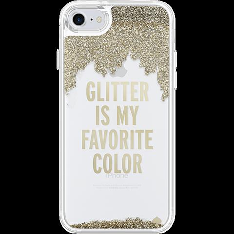 Kate Spade New York Liquid Glitter Case Gold Apple iPhone 7 99926257 hinten