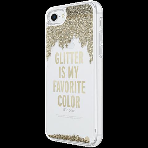 Kate Spade New York Liquid Glitter Case Gold Apple iPhone 7 99926257 seitlich
