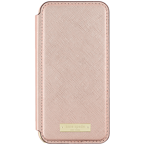 Kate Spade New York Folio Case Saffiano Roségold Apple iPhone 7 99926258 hero
