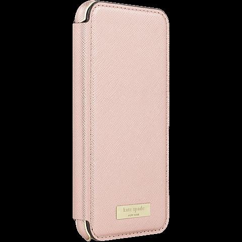 Kate Spade New York Folio Case Saffiano Roségold Apple iPhone 7 99926258 seitlich