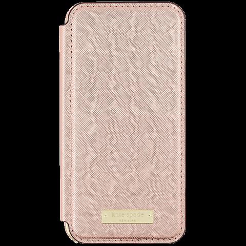 Kate Spade New York Folio Case Saffiano Roségold Apple iPhone 7 99926258 vorne